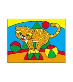 Раскраска песком формат а5 тигр Рыжий кот Р-4399