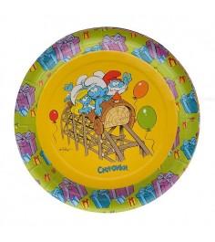 Набор тарелок Смурфики 6 шт 18 см Одноразовая посуда Росмэн 19932