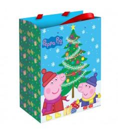 Подарочный пакет свинка пеппа пеппа зимой 23 х 18 см Росмэн 28845