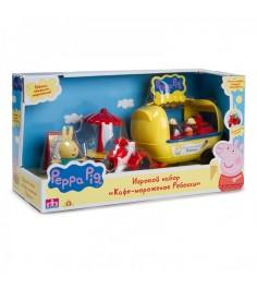 Игровой набор свинка пеппа кафе мороженое ребекки Росмэн 30628