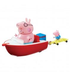 Игровой набор свинка пеппа holiday time моторная лодка Росмэн 30629