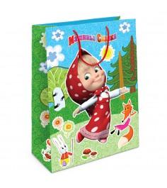 Пакет подарочный Лесная сказка Маши Маша и Медведь 350х250х90 Росмэн 31023