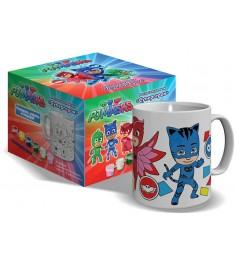 Роспись керамики кружка и краски супергерои Росмэн 34214