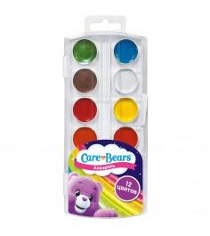 Акварельные краски заботливые мишки 12 цветов Росмэн 31707