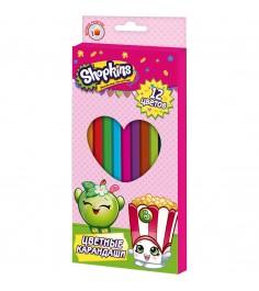 Цветные карандаши шопкинс 12 цветов Росмэн 31811