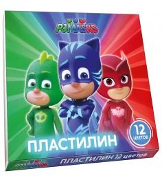 Пластилин герои в масках 12 цветов Росмэн 32764