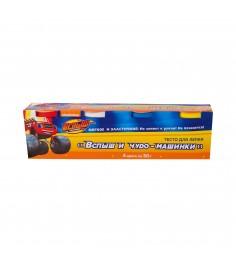 Тесто для лепки вспыш и чудо машинки 4 цвета Росмэн 33357
