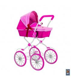 Кукольная коляска RT цвет фуксия розовый 5177