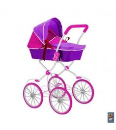 Кукольная коляска RT цвет фиолетовый фуксия 5178