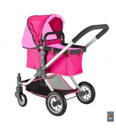 Кукольная коляска RT цвет фуксия розовый 5209