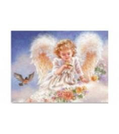 Рисование по номерам Ангелочек на облаке 30x40 см Рыжий кот Х-6166