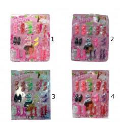 Набор обуви для кукол fashion shoes 12 пар Shantou Gepai X8