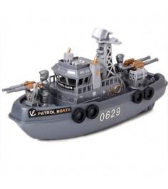 Игрушечный корабль патрульный катер Shantou Gepai 0629C