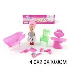 Набор мебели для куклы ванная комната с куклой Shantou Gepai 1223C2
