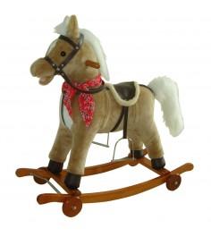 Качалка на колесах лошадка звук движения 78 см Shantou Gepai 61053