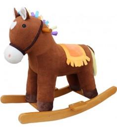 Лошадка качалка мультик коричневый 65 см Shantou Gepai 611034
