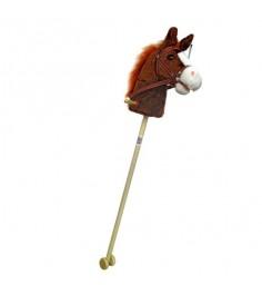 Игрушка скакалка лошадка с колесиками звук 95 см Shantou Gepai 61841
