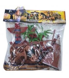 Игровой набор фигурок и аксессуаров индейское племя Shantou Gepai 635460