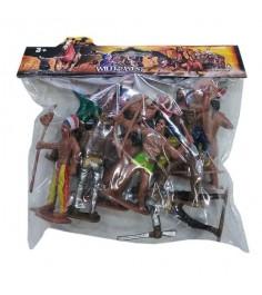 Игровой набор фигурок ковбоев и индейцев wild west Shantou Gepai 635461