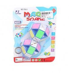 Разноцветная логическая змейка 24 звена Shantou Gepai 750-3