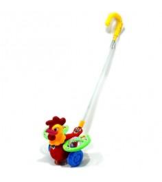 Каталка погремушка с ручкой петушок Shantou Gepai 86032