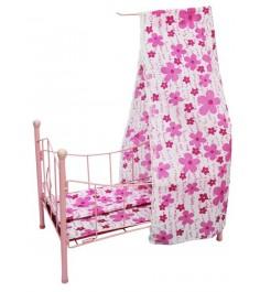 Кроватка для куклы с балдахином 42 см Shantou Gepai PH944