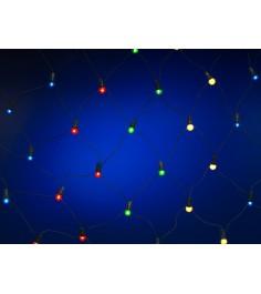Новогодняя электрогирлянда из 160 ламп сетка 180 х 100 см Snowmen Е2101