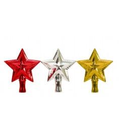 Блестящее елочное украшение наконечник звезда 23 см Snowmen Е40037