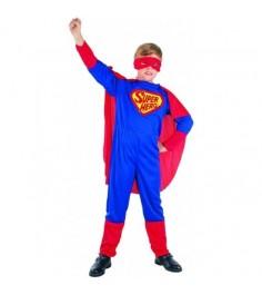 Карнавальный костюм супермен с плащом 7 10 лет Snowmen Е40197-2