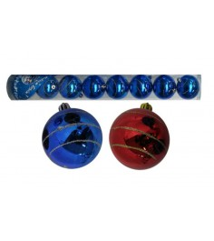Новогодние шары спираль 7 см 8 шт Snowmen Е50208