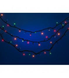 Новогодняя многоцветная гирлянда для улицы 300 ламп 15.3 м Snowmen Е50547
