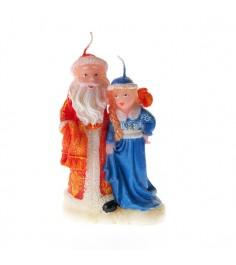 Новогодняя свеча дед мороз и снегурочка 14 см Snowmen Е51216