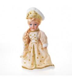 Фигурная керамическая игрушка снегурочка в шубке и кокошнике 30 см Snowmen Е51330