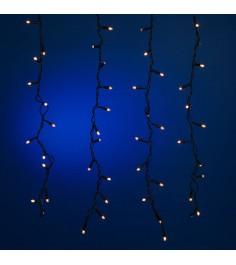 Наружная новогодняя гирлянда сосулька 192 лампы 2 х 0.6 м Snowmen Е70301