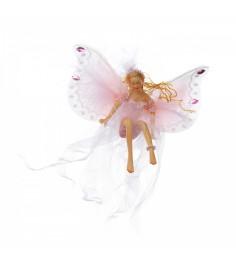 Елочная игрушка новогодняя фея сидящая 14 см Snowmen Е71017