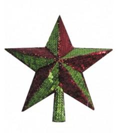 Наконечник звезда для новогодней елки 25 см Snowmen Е80341