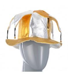 Шутовской колпак с бубенцами серебряно золотой Snowmen Е80948