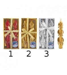 Набор из 2 фигурных новогодних свечей с блестками 16 см Snowmen Е91114