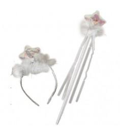 Карнавальный набор ободок корона и жезл Snowmen Е91173-1