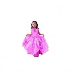 Розовое платье принцессы с цветами 7 9 лет Snowmen Е92172-1
