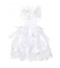 Карнавальный наряд белое платье с крыльями бабочки 4 6 лет Snowmen Е92177