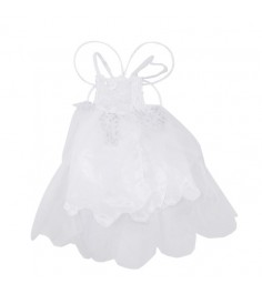 Карнавальный наряд белое платье с крыльями бабочки 7 9 лет Snowmen Е92177-1