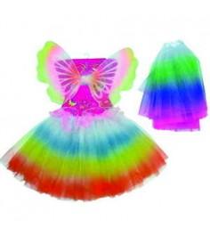 Карнавальный набор с юбочкой и крыльями бабочки 30 см Snowmen Е92238