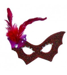 Карнавальная маска с пером 20 см Snowmen Е92255