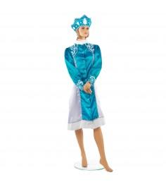 Новогодний костюм снегурочки с кокошником размер м Snowmen Е93324-2