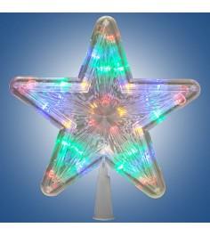 Электрическая led гирлянда звезда наконечник многоцветная 30 лампочек Snowmen Е96349