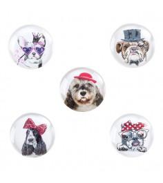 Набор из 5 магнитов символ года собака 3 см Snowmen Е96526