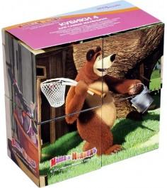 Кубики Степ маша и медведь 4 шт 87132