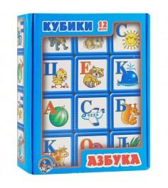 Выдувные кубики азбука 12 шт Тридевятое царство 349
