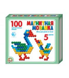 Магнитная шестигранная мозаика 100 элементов 5 цветов Тридевятое царство 961